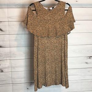 Cold shoulder tunic/ mini dress NWT XL